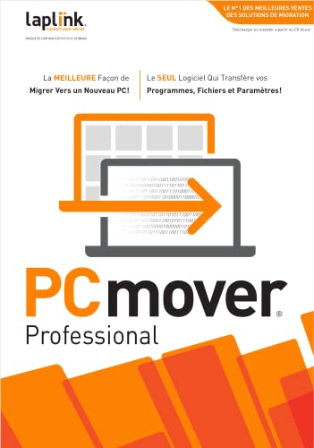 PCmover Professional 11 (1 Utilisation) - La méthode la plus facile pour transférer vos fichiers vers un nouveau PC! [Téléchargement]