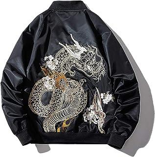 XYXIONGMAO Japanese Dragon Men Street Style Oversized Windbreaker Bomber Jacket Male Couple Hip-Hop Clothing