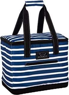 SCOUT The Stiff One Large Insulated Soft Cooler,  PVC-Free Liner,  Reinforced Hard Bottom and Handles,  Water Resistant,  Zipper Closure (Nantucket Navy)