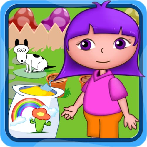 Dora's flowers planting garden free games for kids and preschool toddler