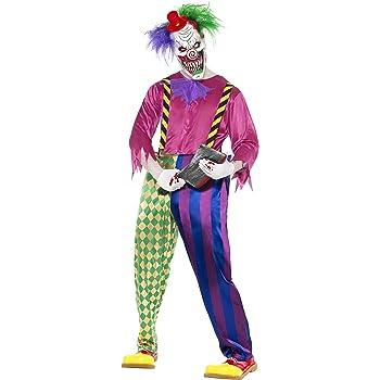 Smiffys- Halloween Disfraz de Payaso Asesino a Todo Color, con ...