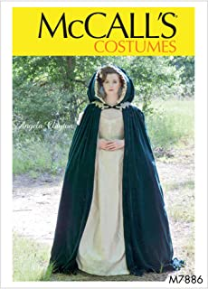 McCall's Pattern M7886 Misses Lined, Hooded, Floor Length Cape