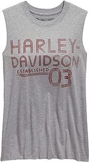 HARLEY-DAVIDSON Women's Established '03 Muscle Tank, Grey