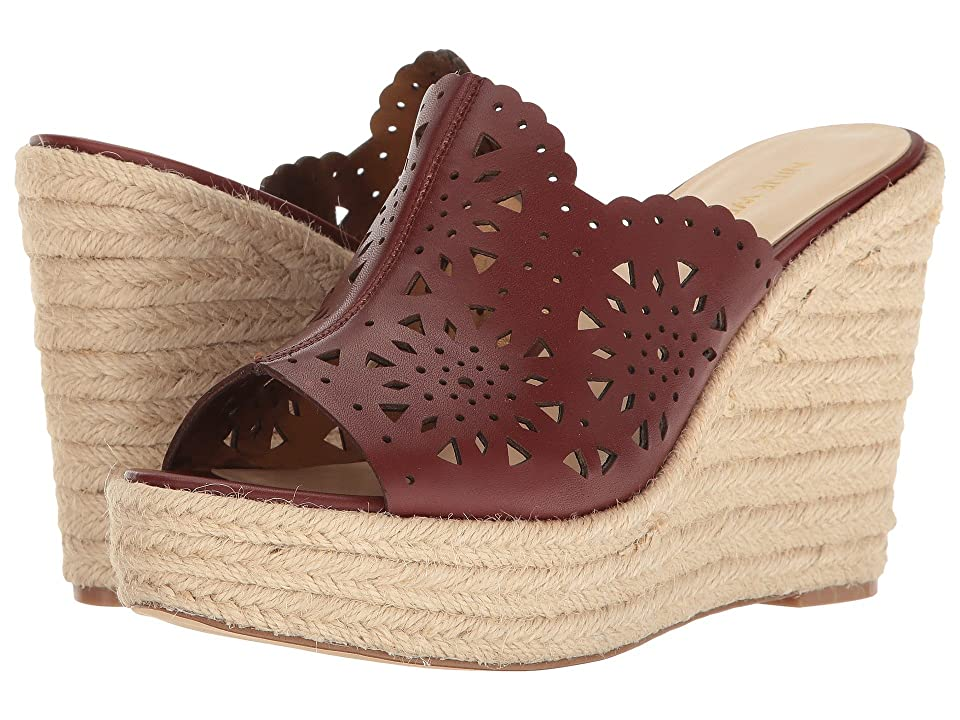 Nine West Derek (Cognac Leather) Women's Wedge Shoes, Brown