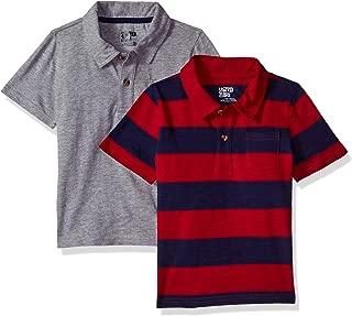 Amazon Brand - Spotted Zebra Boys' Toddler & Kids 2-Pack Slub Jersey Short-Sleeve Polo Shirts