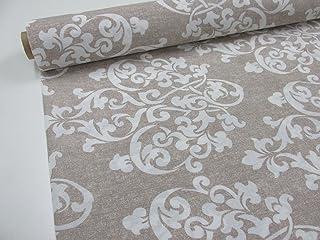 Confección Saymi Metraje Tejido loneta Estampada Ref. Damasco Grand Blanco, con Ancho 2,80 MTS. (2,45x2,80m)