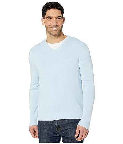 Calvin Klein Cotton Modal Long Sleeve V-Neck (Cerulean) Men