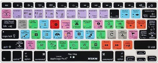 جلد سیلیکون صفحه کلید میانبر XSKN Logic Pro X 10.4 سازگار برای MacBook Air 13، Pro 13 15 17 اینچ با ایالات متحده