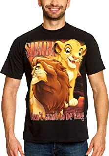Rey de los Leones Disney Camiseta de Hombre Simba Next King Elven Forest Cotton Black