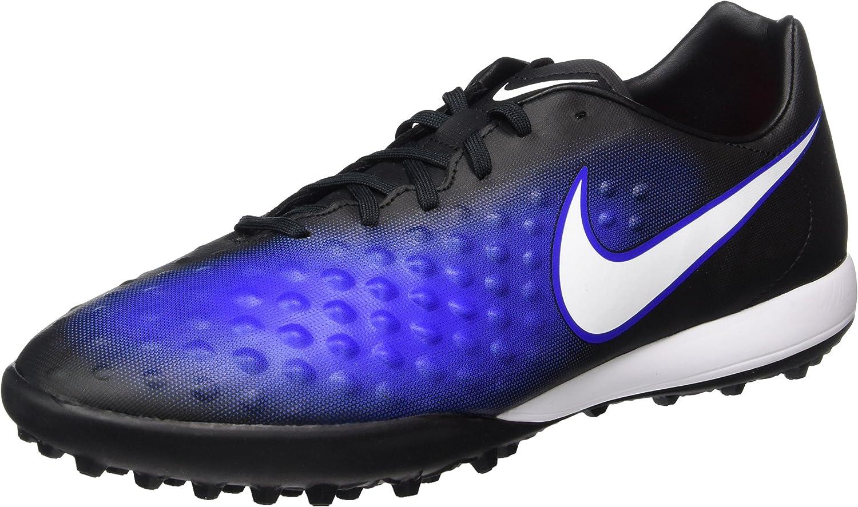 Nike Men's Magistax Onda II TF Turf Soccer shoes (bluee, Black)