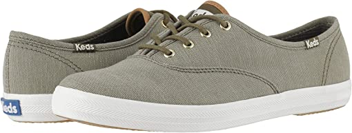 Olive Ticking Canvas
