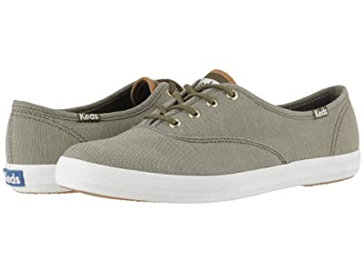 Keds Champion Ticking Canvas (Olive Ticking Canvas) Women