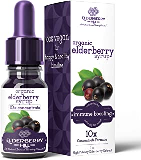 Sponsored Ad - Elderberry Drops Liquid Extract, Daily Immune Support, 10x Strength Concentrate Syrup for Kids and Adults, ...