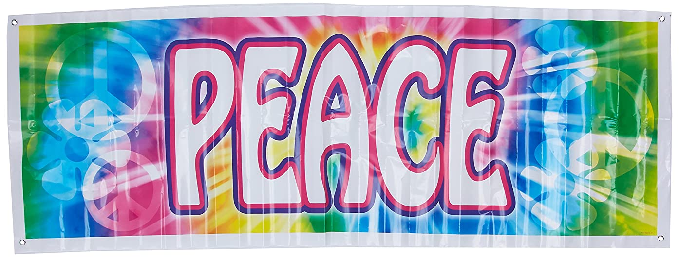 Peace Sign Banner Party Accessory (1 count) (1/Pkg)
