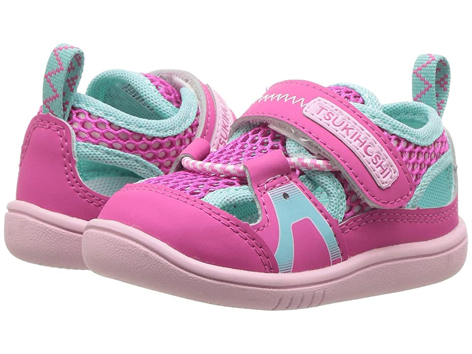 Tsukihoshi Kids Ibiza 2 (Toddler) (Fuchsia/Mint) Girls Shoes