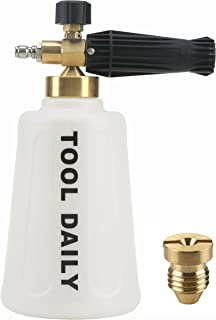 Tool Daily Pressure Washer Foam Cannon for Car Wash, Snow Foam Lance, Additional Orifice Nozzle 1.1mm, 1/4 Inch