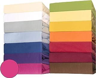 Baby bomull dra-på-lakan för barnmadrasser, 60 x 120 till 70 x 140 cm, CelinaTex Lucina Minis, Bomull, rosa, Doppelpack 60...