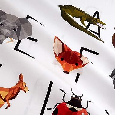 Hoffman Fabrics Hoffman Digital Zookeeper Animal Alphabet 37'' Panel Fabric, 1, Prism