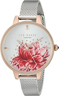 4f636172b Ted Baker Women's Kate Quartz Watch with Stainless-Steel Strap, Silver,  10.5 (