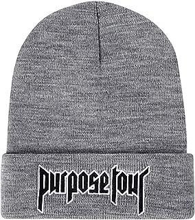 Tour Embroidered Winter Vintage Retro Justin Bieber Hat High Street Dark Tide Caps for Women and Men Beanie