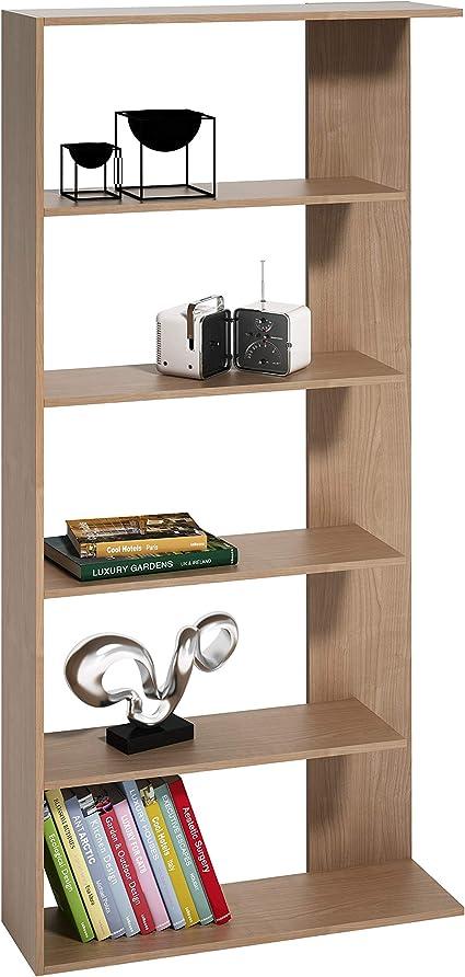 Mueblix / Estanterías para Libros/Estantería Wall Cerezo/Librería Estantería de Baldas para Salón, Dormitorio o Habitación Juvenil/Medidas: Alto; 180 ...