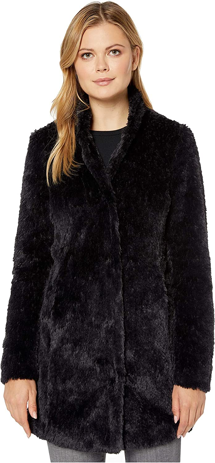 Kenneth Cole New York Women's Mid Length Faux Fur Jacket