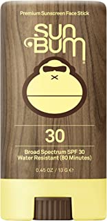 Sun Bum Premium Sunscreen Face Stick SPF 30 | Reef Friendly Broad Spectrum UVA / UVB Protection | Light Weight and Water Resistant | Oil Free Facial Sunscreen | .45oz Sunscreen Stick