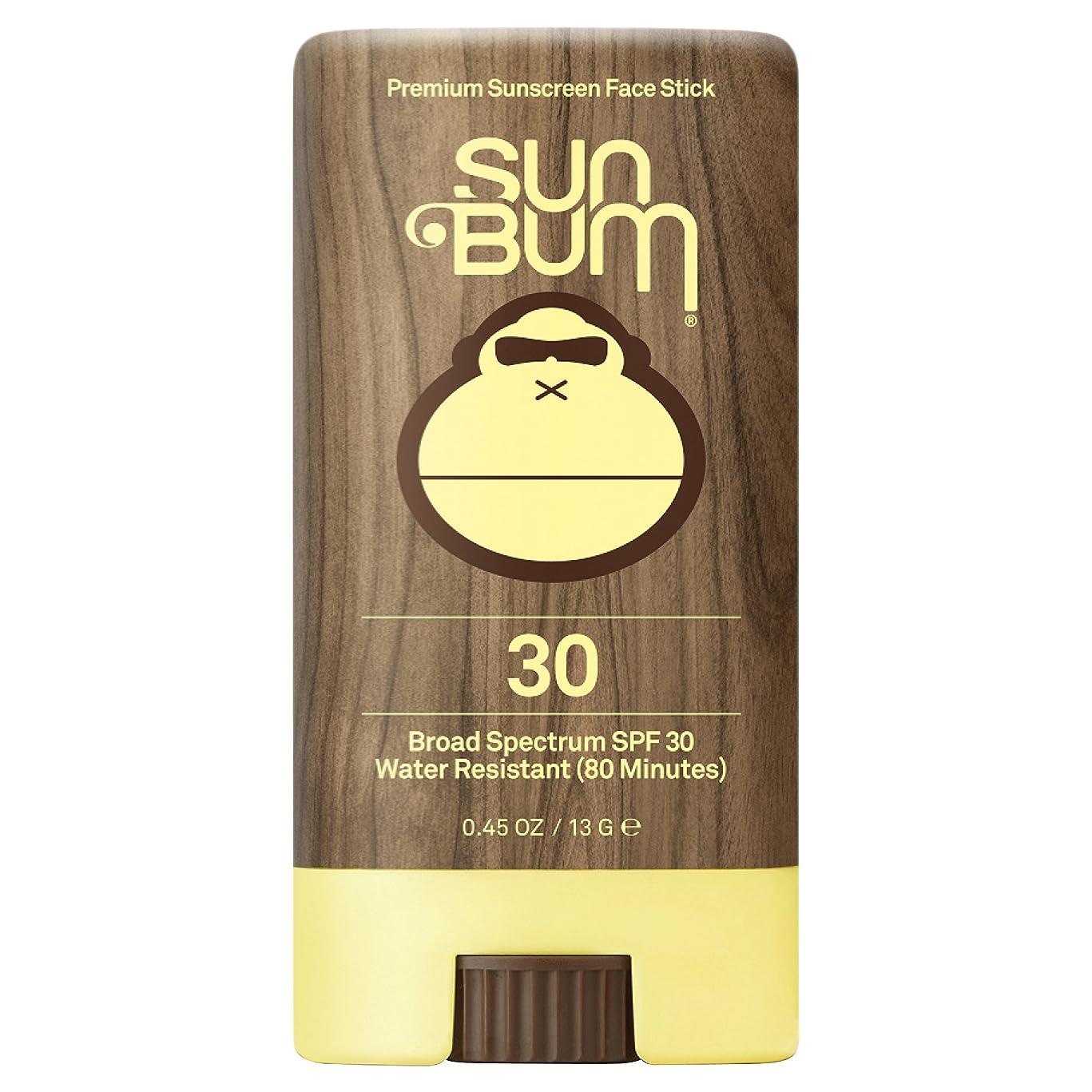 Sun Bum Premium Sunscreen Face Stick, SPF 30, 0.45 oz. Stick, 1 Count, Broad Spectrum UVA/UVB Protection, Paraben Free, Gluten Free, Oil Free