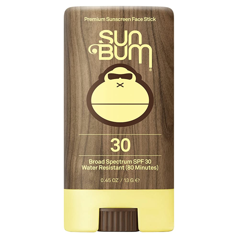 Sun Bum Premium Sunscreen Face Stick, SPF 30, 0.45 oz. Stick, 1 Count, Broad Spectrum UVA/UVB Protection, Paraben Free, Gluten Free, Oil Free
