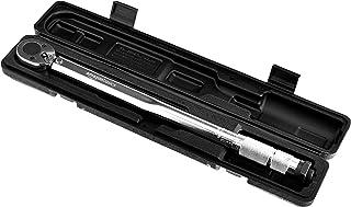 AmazonBasics 1/2-Inch Drive Click Torque Wrench - 20-150 ft.-lb, 27.1-203.5 Nm
