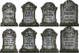 Beistle 1516 Tombstone Cutouts 4 Piece Halloween Party Decorations, 15