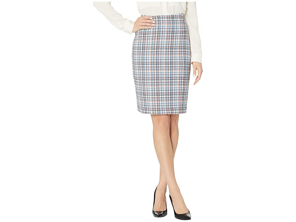 Tommy Hilfiger Lightweight Tweed Straight Skirt (Bay Multi) Women