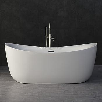 "Heated Air Massage-Chrome Drain Carver Tubs Kaskade 71/"" Freestanding Bathtub"