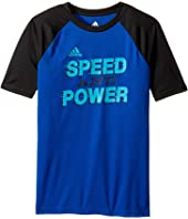 adidas Kids Speed & Power Tee (Big Kids)