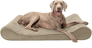 Furhaven Pet Dog Bed   Orthopedic Micro Velvet Ergonomic Luxe Lounger Cradle Mattress Contour Pet Bed for Dogs & Cats - Available in Multiple Colors & Sizes (Renewed)