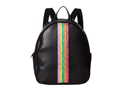 Betsey Johnson Between the Lines Backpack (Black) Backpack Bags