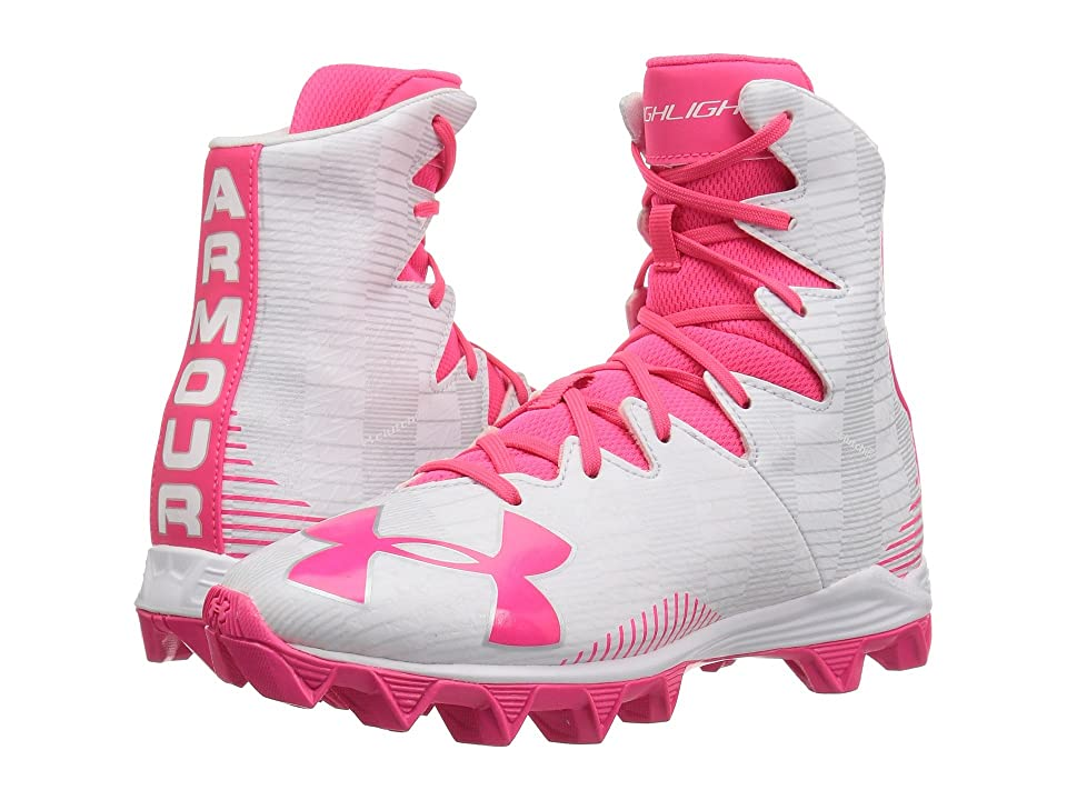 Under Armour Kids UA Lax Highlight RM Lacrosse (Little Kid/Big Kid) (White/Pink) Girls Shoes
