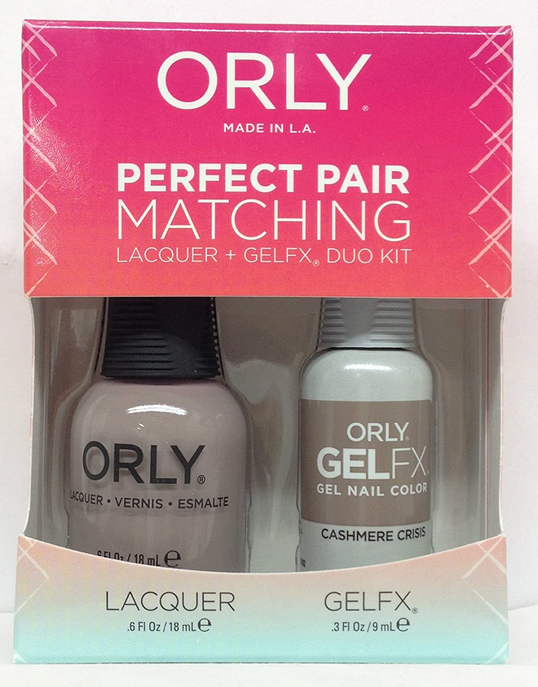 敬準備慣れるOrly - Perfect Pair Matching Lacquer + GelFX Kit - Cashmere Crisis - 0.6 oz / 0.3 oz