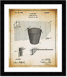 "The Oliver Gal Artist Co. Vintage Sports Wall Art Prints `Basketball Hoop 1925` Framed Blueprints Home Décor, 26"" x 32"", B..."