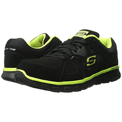 SKECHERS Work Synergy Ekron (Black Lime) Men