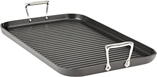 "All-Clad E7954164 HA1 Hard Anodized Nonstick Dishwaher Safe PFOA Free Grande Grill Cookware, 13 20-Inch, Black, 13"" x 20"""