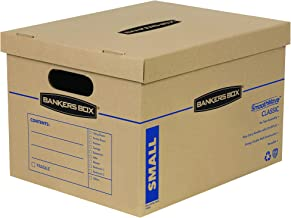Bankers Box SmoothMove Classic Moving Boxes, Tape-Free Assembly, Easy Carry Handles, Small, 15 x 12 x 10 Inches, 20 Pack (7714210)