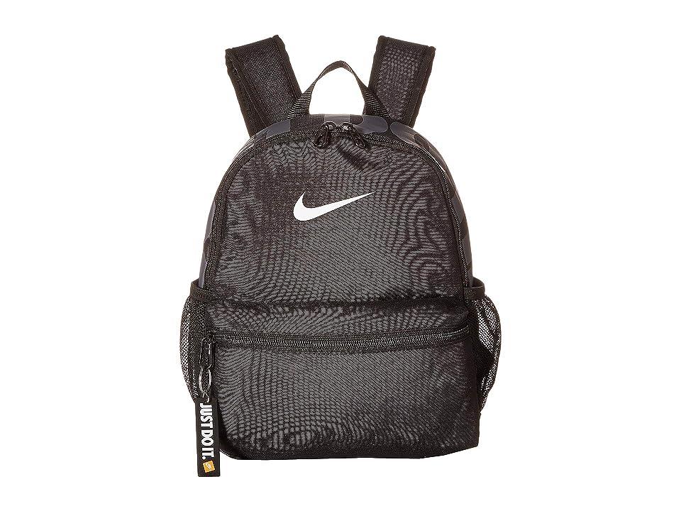 Nike Kids Brasilia JDI Mini Backpack (Little Kids/Big Kids) (Black/Black/White) Backpack Bags