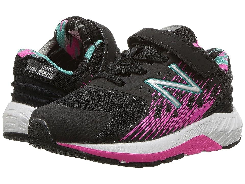 New Balance Kids KVURGv2I (Infant/Toddler) (Black/Pink Glo) Girls Shoes