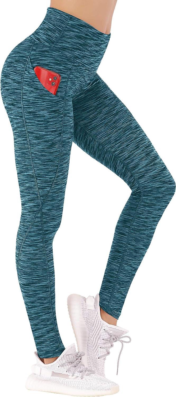Ewedoos Leggings with Pockets for Women High Waisted Yoga Pants with Pockets Workout Leggings for Women Butt Lift Pants