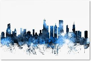 Chicago Illinois Skyline II by Michael Tompsett, 16x24-Inch