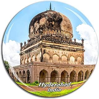 Birla Mandir Hyderabad India Fridge Magnet 3D Crystal Glass Tourist City Travel Souvenir Collection Gift Strong Refrigerator Sticker
