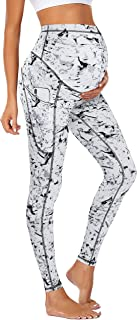 JOYMOM Maternity Leggings Over The Belly Pregnancy Yoga Pants with Side Pockets