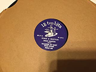 Walking My Baby Back Home 78 Rpm Record 18 Top Hits