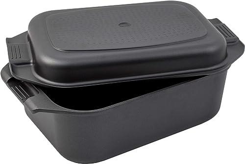 Karcher Sauteuse Induction en Fonte d'Aluminium 2en1 avec Couvercle/Plat de Cuisine, 8,7 litres, 41,5 x 25,5 cm